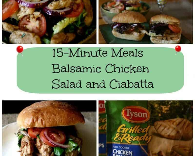 Balsamic Chicken Salad and Ciabatta -15 Minute Meals
