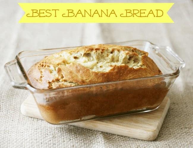 Best Banana Bread in loaf pan