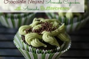 Chocolate Vegan Avocado Cupcakes with Avocado Buttercream