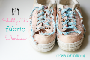 DIY Shabby Chic Fabric Shoelaces