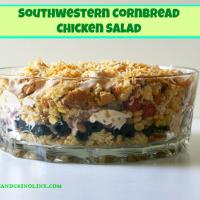 Southwestern Cornbread Chicken Salad