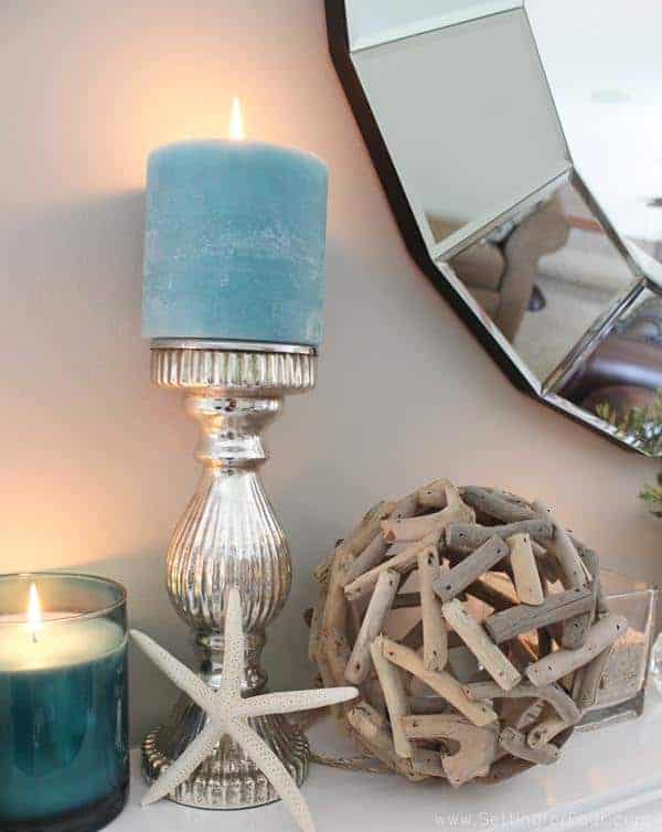 Setting For Four: Beach Inspired Mantel