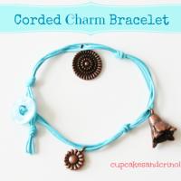 Easy Corded Charm Bracelet c&c