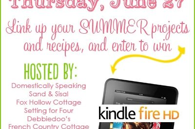 Kindle Fire Giveaway and Fun in the Sun Linky Party