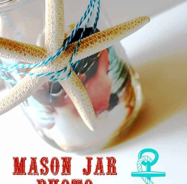 Mason Jar Beach Photo Display