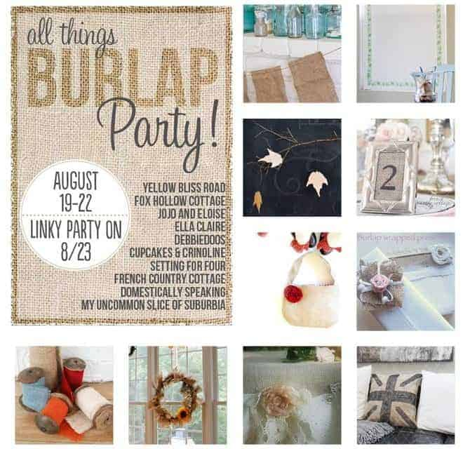 All Things Burlap Party Recap and Linky Party