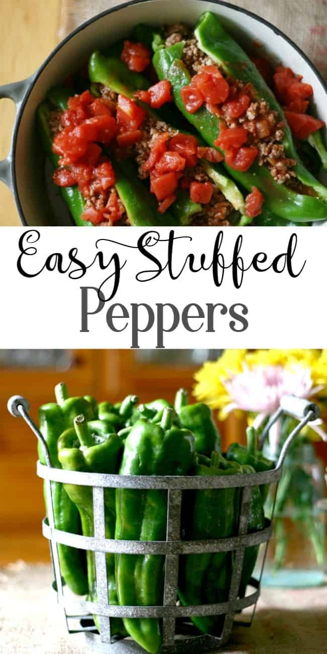 Easy to make baked stuffed peppers