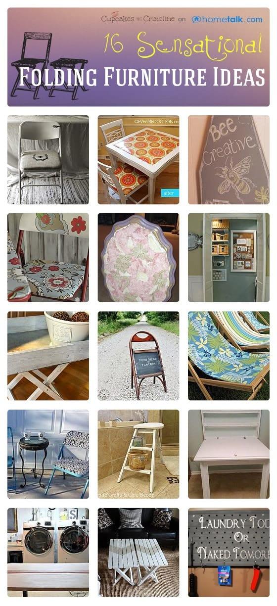 Folding furniture Ideas @cupcakesandcrinoline.com