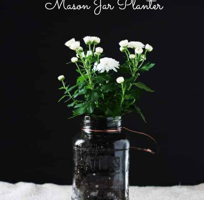 Mason Jar Planter – Easy To Make