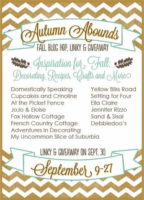 Autumn Abounds Blog Hop and Linky Party with Giveaway