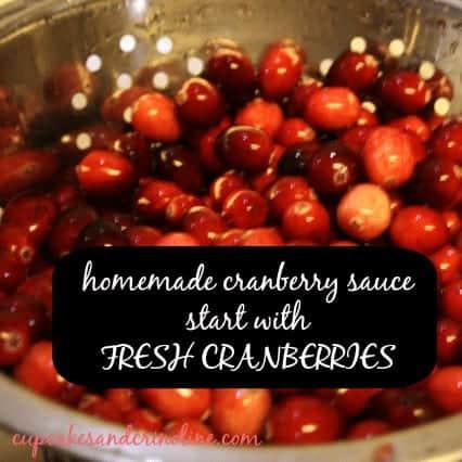 Crockpot Cranberry Sauce fresh cranberries