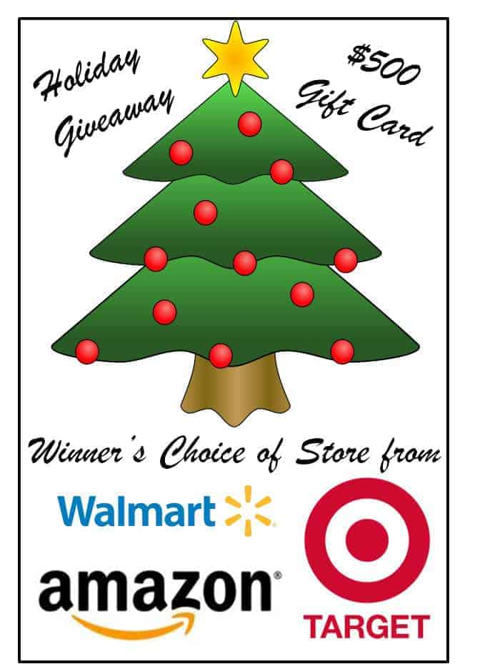 Holiday Giveaway ~ Winner's Choice $500 Gift Card