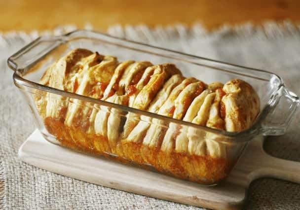 Pumpkin Monkey Bread baked
