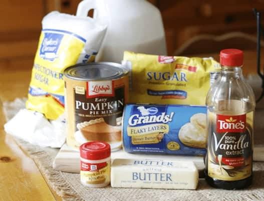 Pumpkin Pie Pull-Apart or Monkey Bread - Ingredients