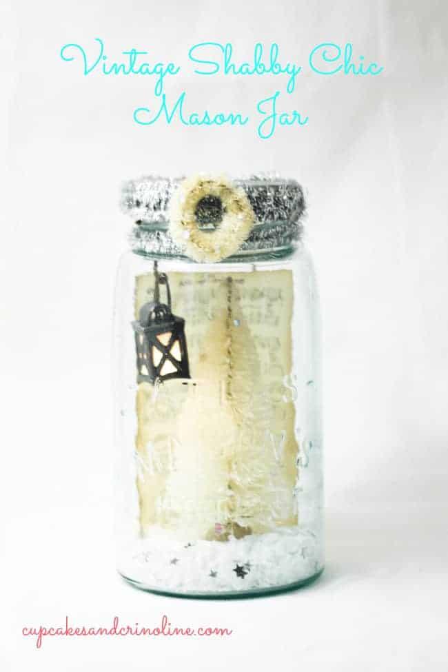 Shabby Chic Holiday Mason Jar