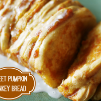 Sweet Pumpkin Monkey Bread with Icing