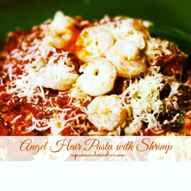 Angel Hair Pasta with Shrimp and Star Olive Oil ~ 30-Minute Meal