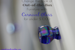 Change the Look of Boxed Furniture for under $10.00