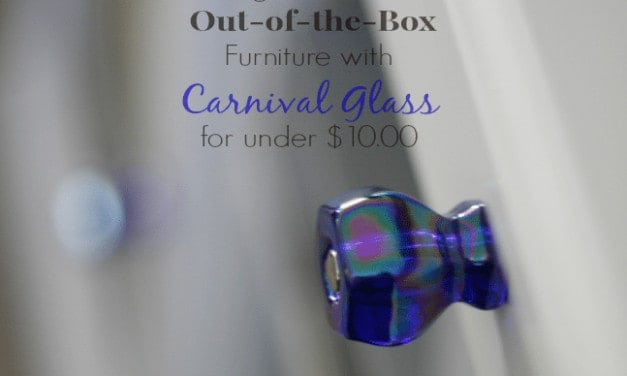 Carnival Glass Knobs ~ Change the Look of Plain Furniture in an INSTANT!