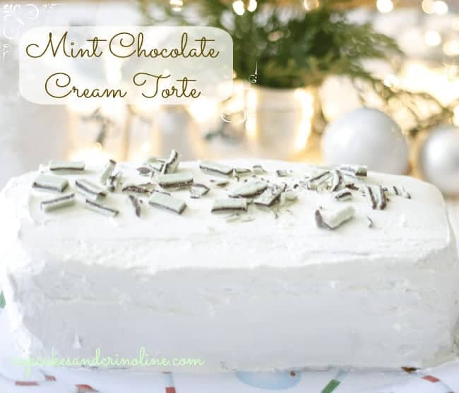 Mint Chocolate Cream Torte