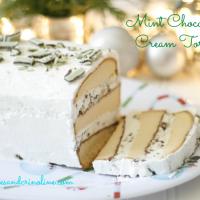 Chocolate Mint Cream Torte w