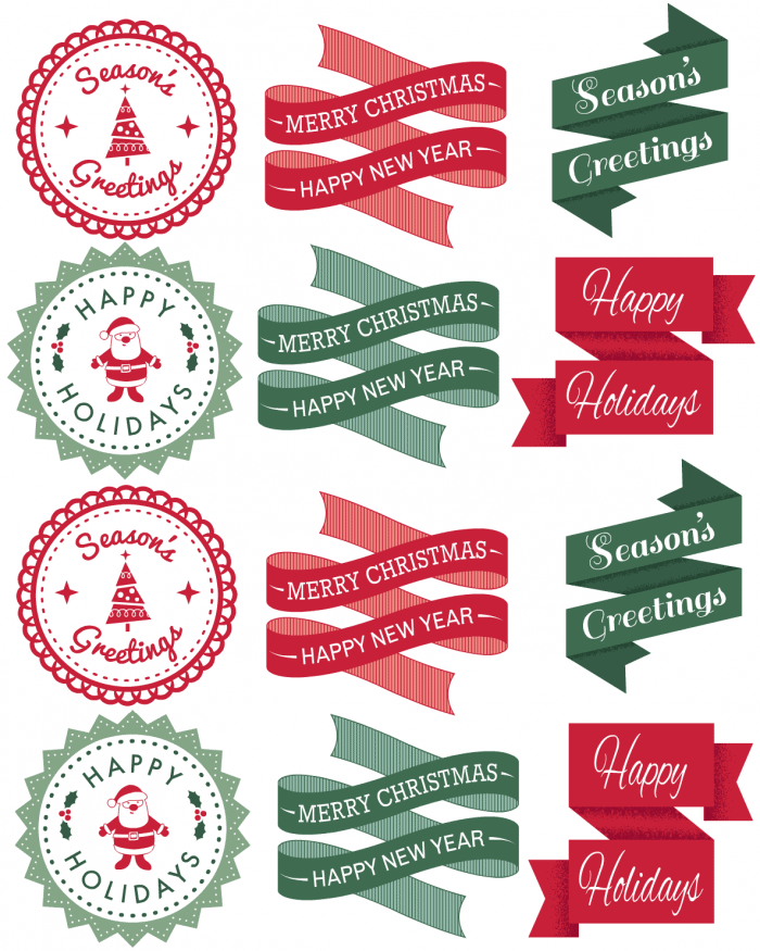 Christmas Gift Tag Download from Cupcakes and Crinoline