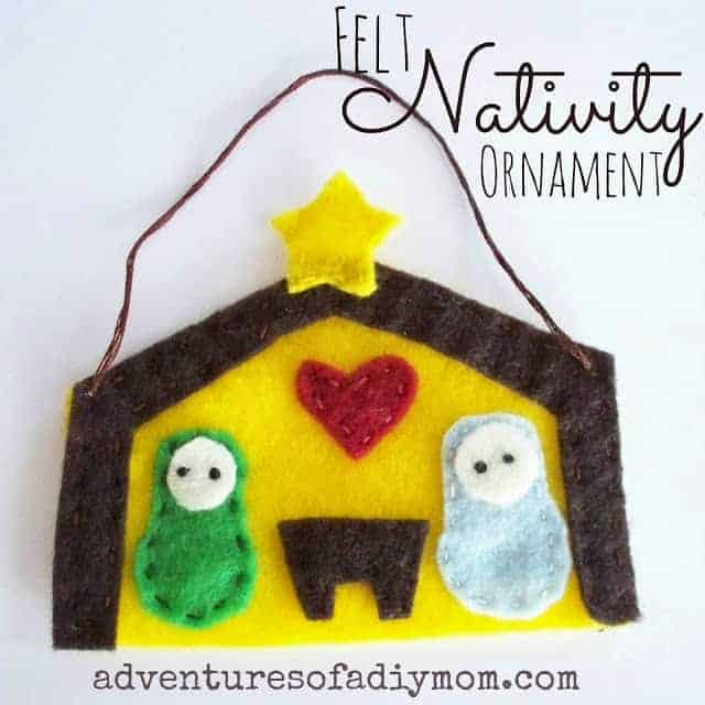 Felt Nativity Ornament