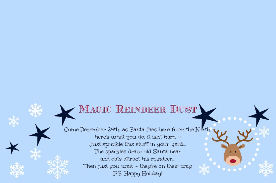 Magic Reindeer Dust {Poem} with Free Printable