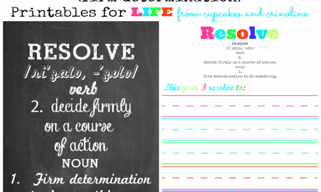 An Alternative to Resolutions ~ Printables for Life