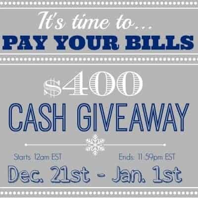 Cold Hard Cash Giveaway ~ $400.00