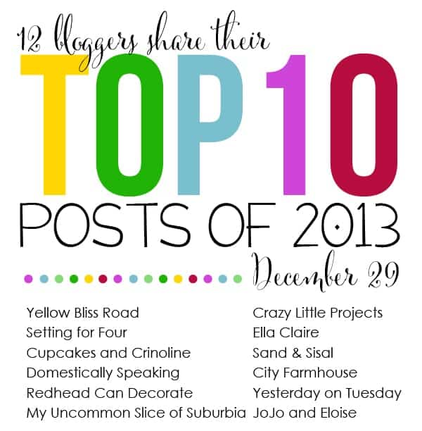 Top 10 Posts of 2013 Blog Hop and Link Party