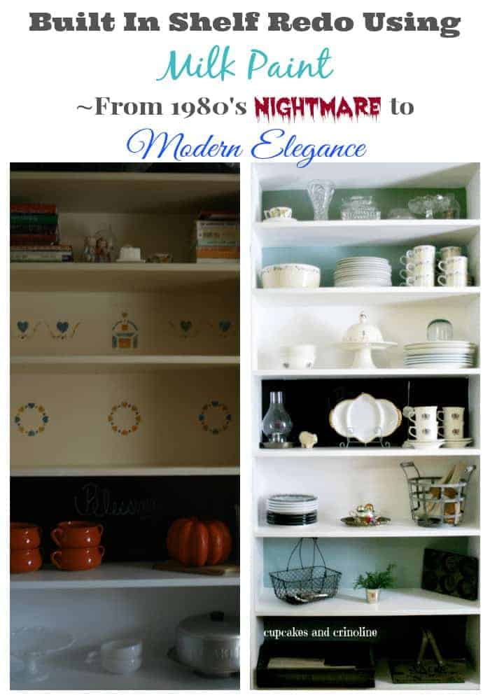 Built in Shelf Redo using Milk Paint