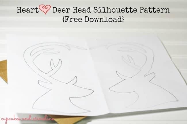 Heart Antlers Deer Head Download and Tutorial