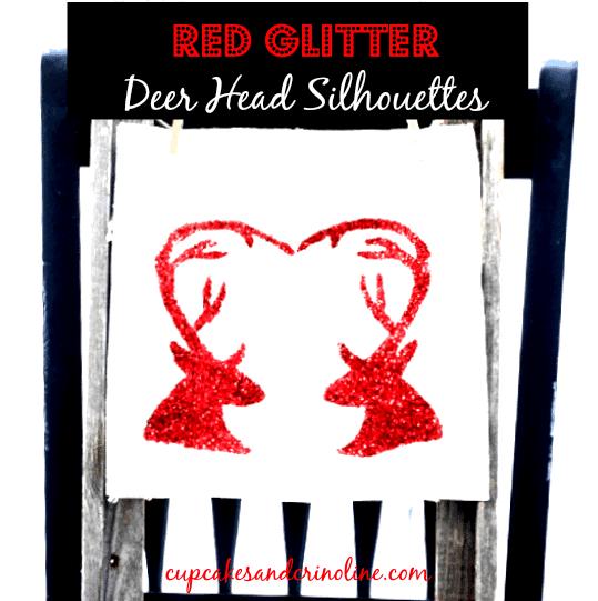 Deer Head Silhouette Art from cupcakesandcrinoline.com
