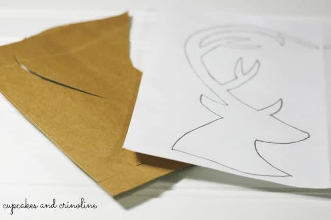 Deer Head Silhouette Art with Cardboard