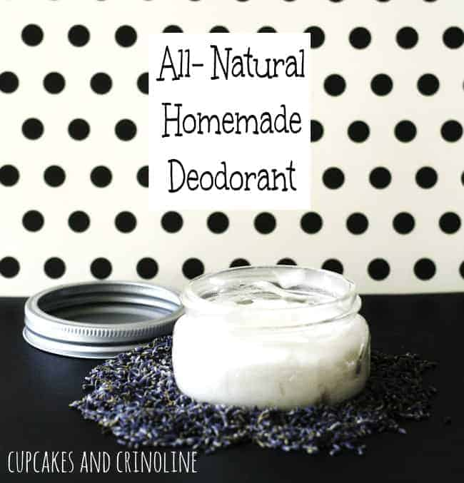 Homemade Deodorant from Cupcakes and Crinoline 2