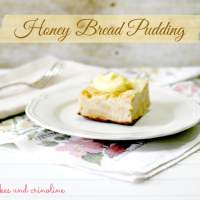 Honey Bread Pudding with Custard Sauce