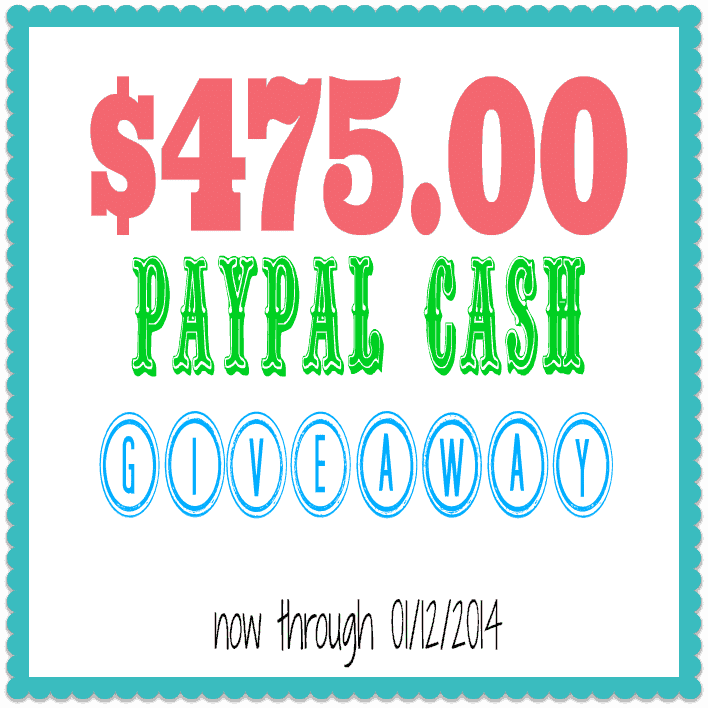 paypal cash giveaway January 2014 at Cupcakes and Crinoline