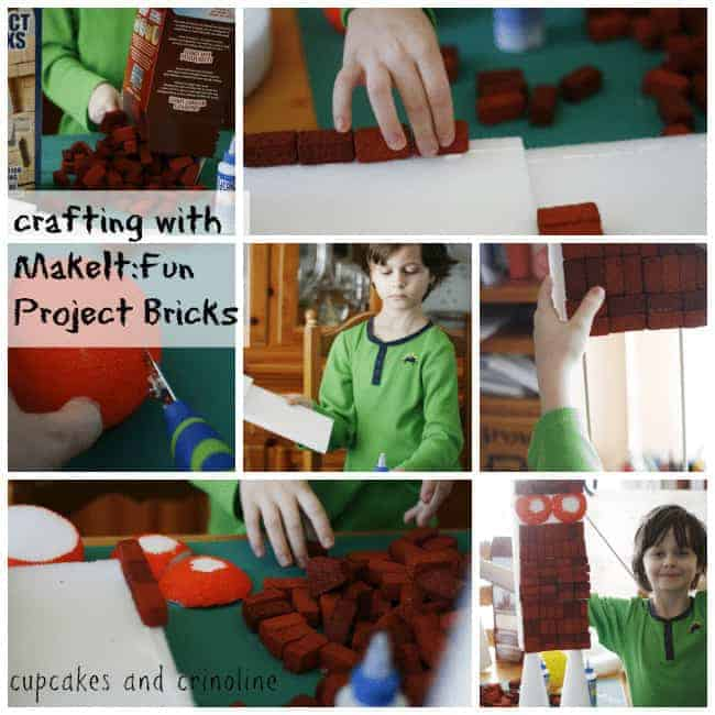 Crafting with MakeItFun Project Bricks at Cupcakes and Crinoline