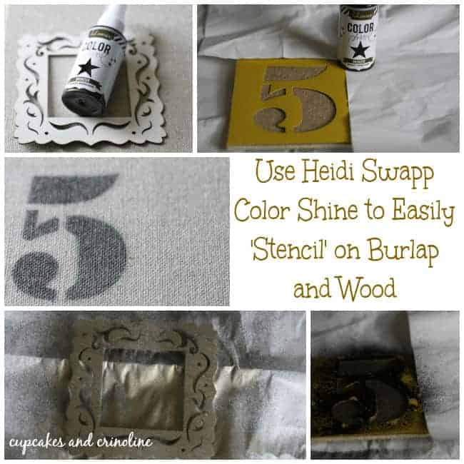 Heidi Swapp Color Shine for Stenciling #MPinterestParty