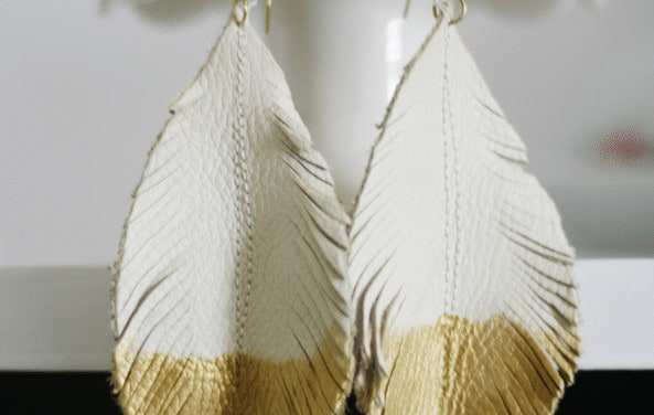 Make Your Own Feather Earrings