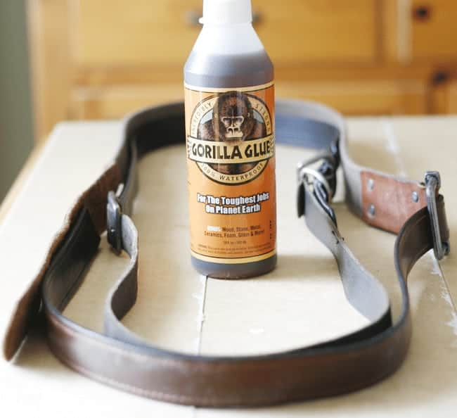 How to Add Leather Handles to a Basket using Gorilla Glue
