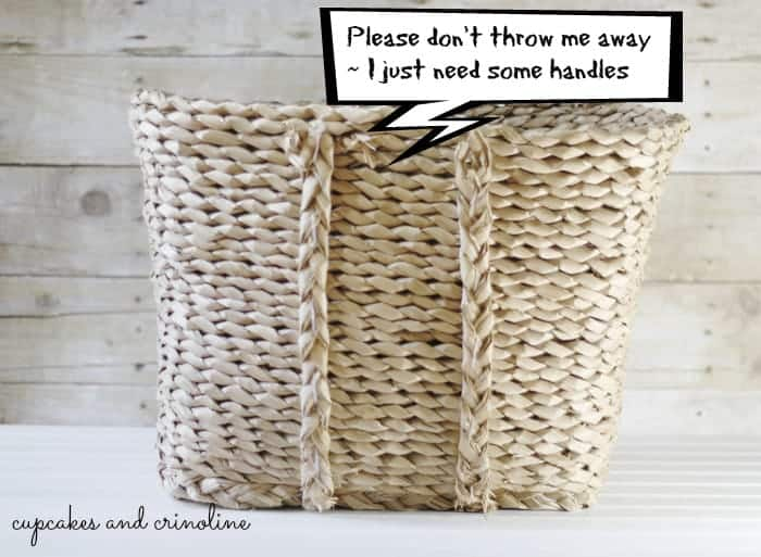 How to Add Leather Handles to a broken basket