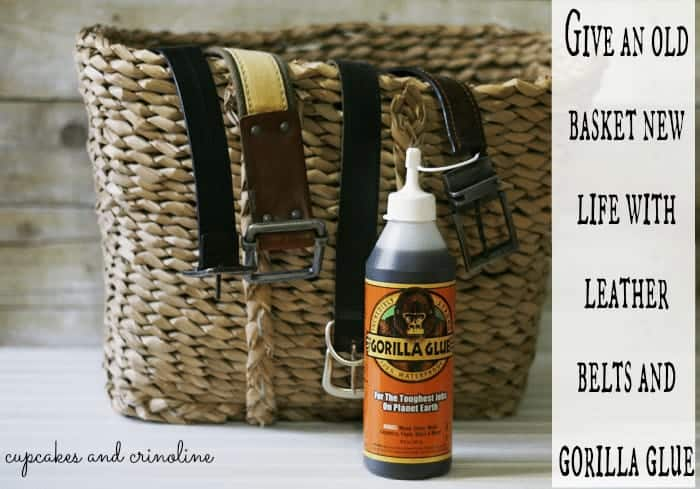 How to Add Leather Handles to an old Basket 5