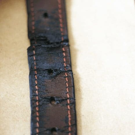 How to Add Leather Handles to an old basket - old leather belt