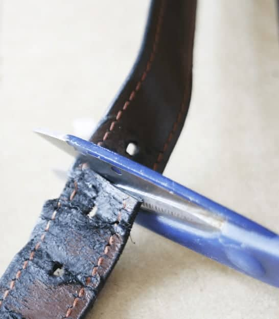 How to Add Leather Handles using Old Leather Belts
