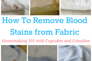 How to Remove Blood Stains from Fabric with Cupcakes and Crinoline