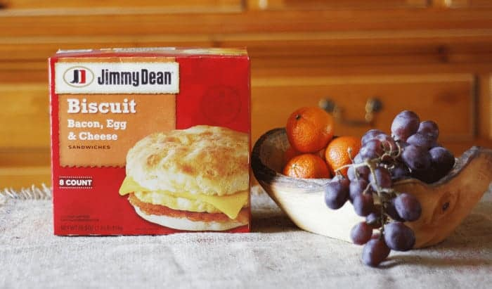Jimmy Dean Biscuit Bacon, Egg & Cheese Sandwiches #RedboxBreakfast #PMedia #ad