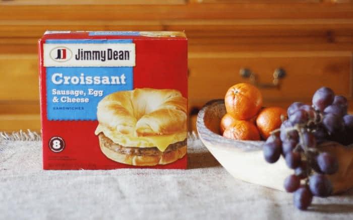 Jimmy Dean Croissant Sausage, Egg & Cheese Sandwiches #RedboxBreakfast #PMedia #ad