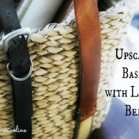 Upscale a Basket with Leather Belts